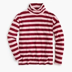 J. Crew Oversized Striped Deck Turtleneck Sweater